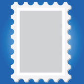 Blank stamp vector — Stock Photo