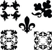 Black decorations ornaments vector — Стоковое фото