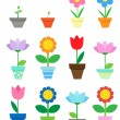 Flowers in pots — Stock Vector #6060791
