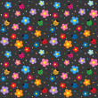 Ladybugs and flowers background — Stock Vector #6060806