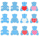 Twelve blue bears — Stock Vector