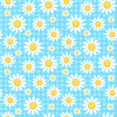 Chamomile checkered background — Stock Vector