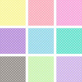 Pastel polka dots — Stock Vector