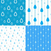 Rain drops backgrounds — Stock Vector