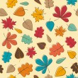 Stock Vector: Autumnal background
