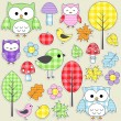 Royalty-Free Stock Vector Image: Textile stickers