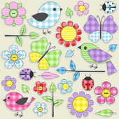 Textile stickers — Vecteur