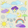 Weather stickers — Stock Vector #6699014