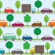 Cars background - Stock Vector