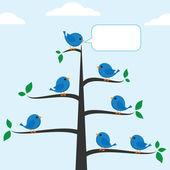 Blauen vögel — Stockvektor