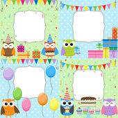 Carte di compleanno festa — Vettoriale Stock