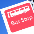 Stock Photo: Bus stop