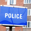 Royalty-Free Stock Photo: Police sign