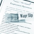Employment contract — Stock Photo