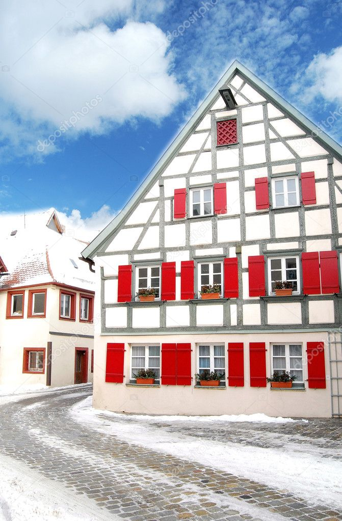 Traditional timbered house in Bavaria, Germany — Stock Photo #6457273