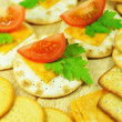Stock Photo: Cheese crackers