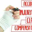 Injury claim — Stockfoto