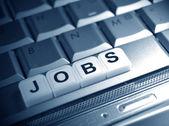 Jobs under spotlight — Stock Photo