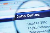Internet jobs — Stock Photo
