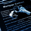 Mortgage contract — Stock Photo