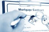 Hypotheek contract — Stockfoto