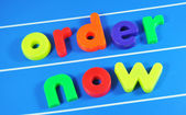 Order now message — Stock Photo