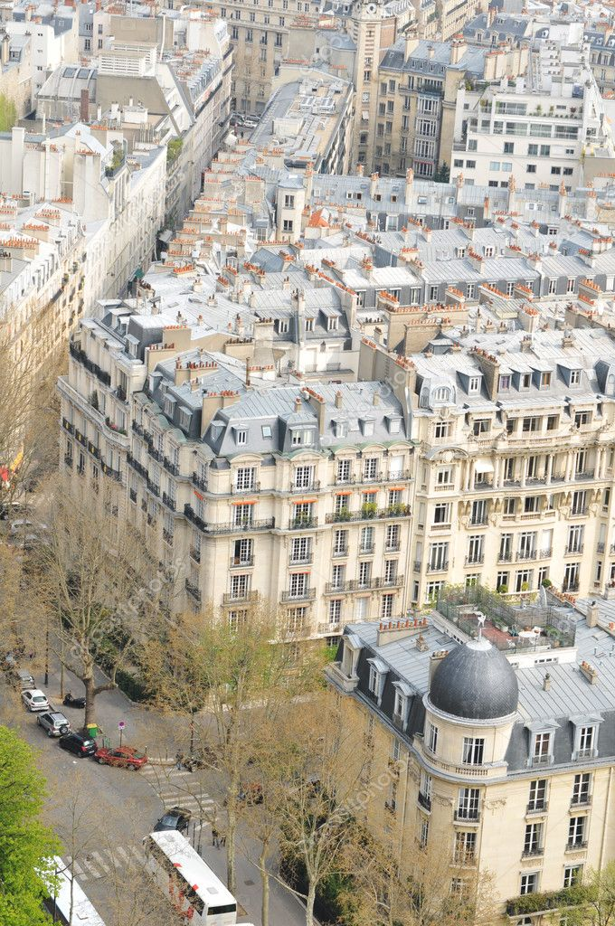 Aerial view of buildings in Paris  Stock Photo #6639734