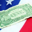Stock Photo: One dollar bill