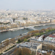 The river Seine across Paris — Stock Photo