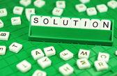 Soluzione — Foto Stock