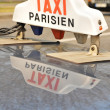 Taxi in Paris — Stock Photo