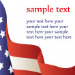 Vector illustration - American flag. Background — Vector de stock