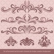 Horizontal elements decoration vector - Image vectorielle