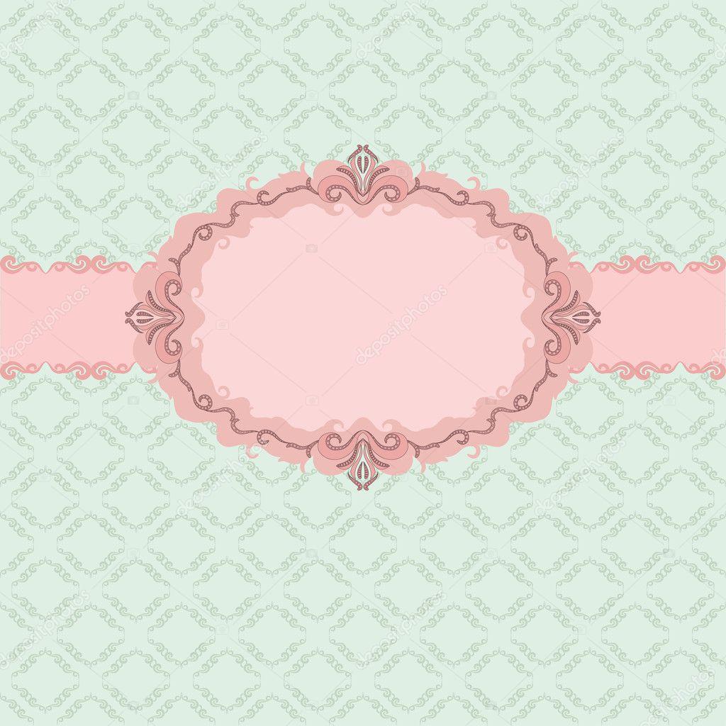 Custom Card Template standard greeting card size template : Template frame design for greeting card . u2014 Stock Vector u00a9 juli ...