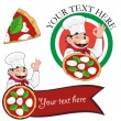 Pizza chef bonjorno — Vector de stock