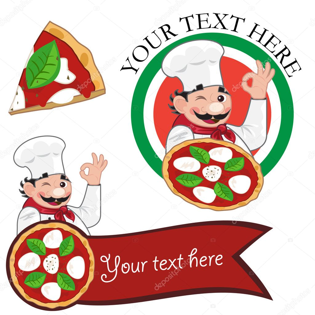 Pizza Chef Vector Pizza Chef And Pizza Banner or