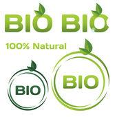 Bio organic logo — Stock Vector