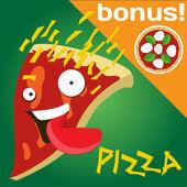 Piza slice — Stock Vector