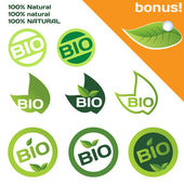 Bio organic stamps — Stock Vector