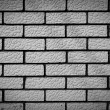 Black and white brick background — Stock Photo