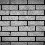 Black and white brick background — Stock Photo