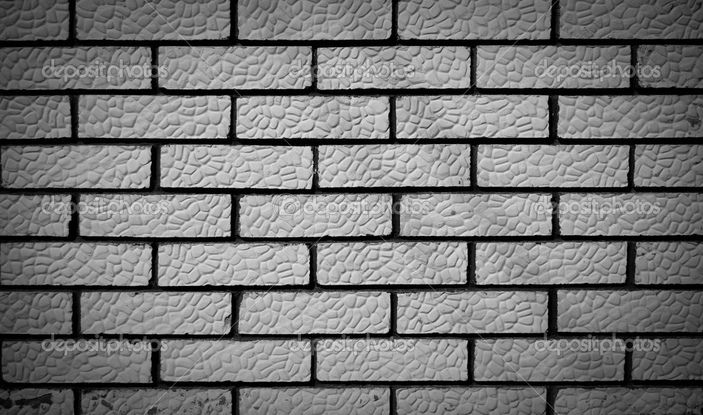 Black and white brick background — Stock Photo © Artificiu ...