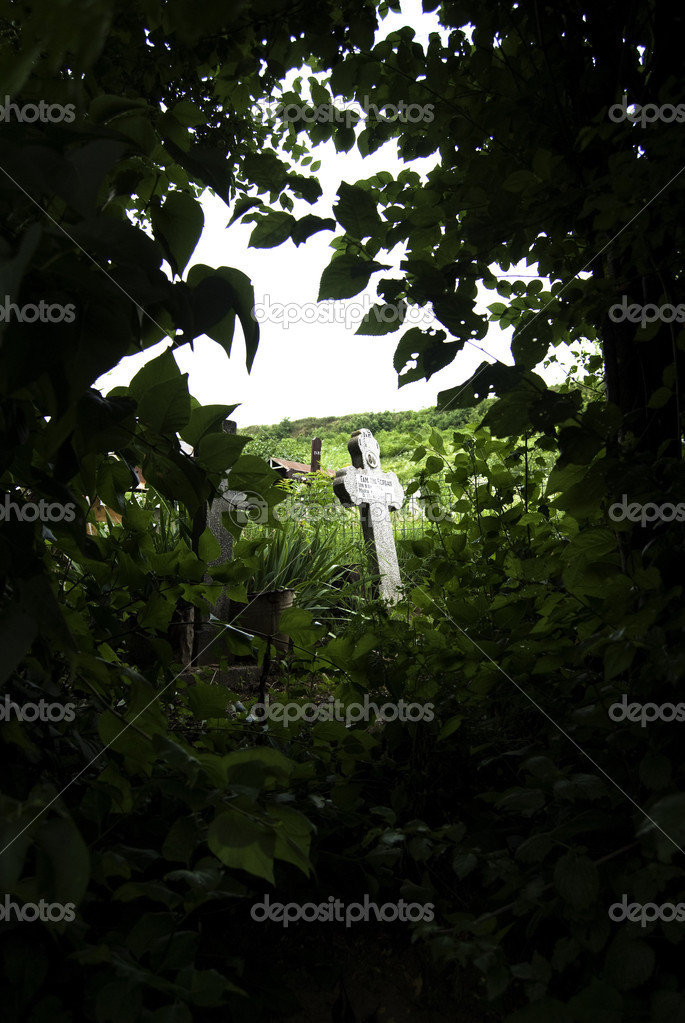 Old cemetery cross in romania — Stock Photo #5994567