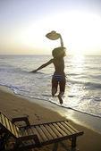 Sexy gil on beach — Stock Photo
