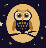 Night owl — Vettoriale Stock