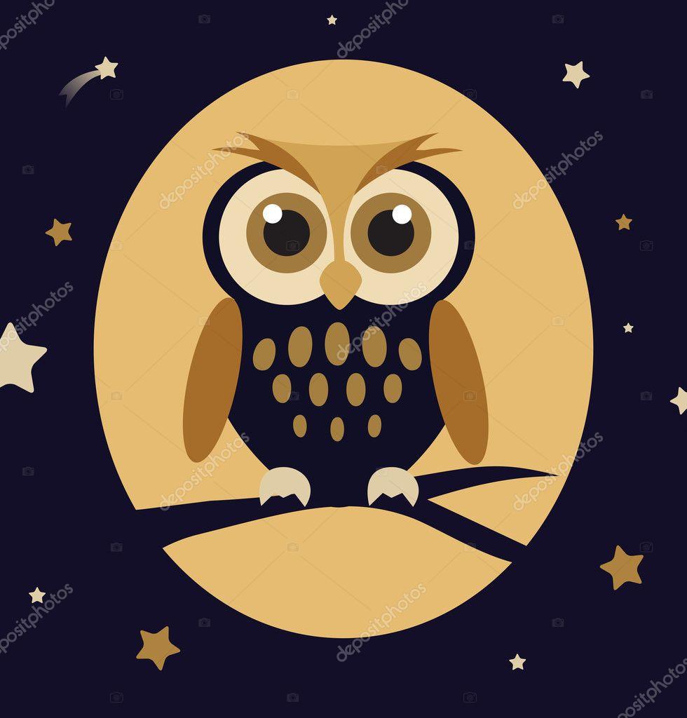Retro owl cartoon - photo#28