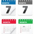 iconos calendario — Vector de stock  #6503902