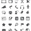 Media Icons | Black — Vector de stock