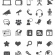Media Icons | Black - Imagen vectorial