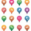 Social Media Icons | Colorful — Stock Vector #6503968